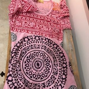 Free People cotton short dress.  Great pattern